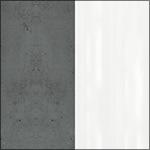 C275 - Beton Ciemnoszary + Biały połysk