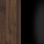 C207 - Orzech Columbia + Czarny połsyk