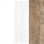 C218 - Biały / Dąb Bianco / Biały połysk